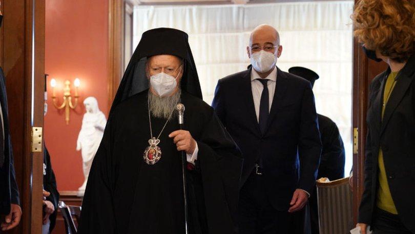 SON DAKİKA: Yunanistan Dışişleri Bakanı Dendias İstanbul'da Fener Rum Patriği Bartholomeos'la görüştü!