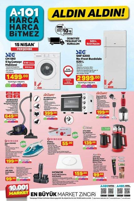 A101 15 Nisan 2021 kataloğu satışa çıktı! A101 haftanın indirimli ürünler listesi