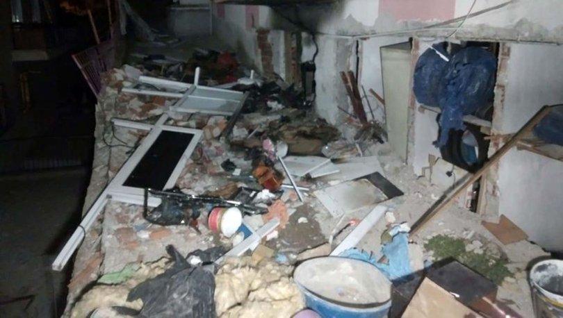 Ankara'da 2 katlı binanın kömürlüğünde patlama: Evli çift yaralandı