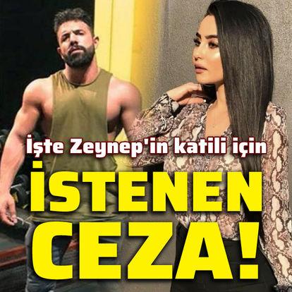 İşte Zeynep'in katili için istenen ceza!