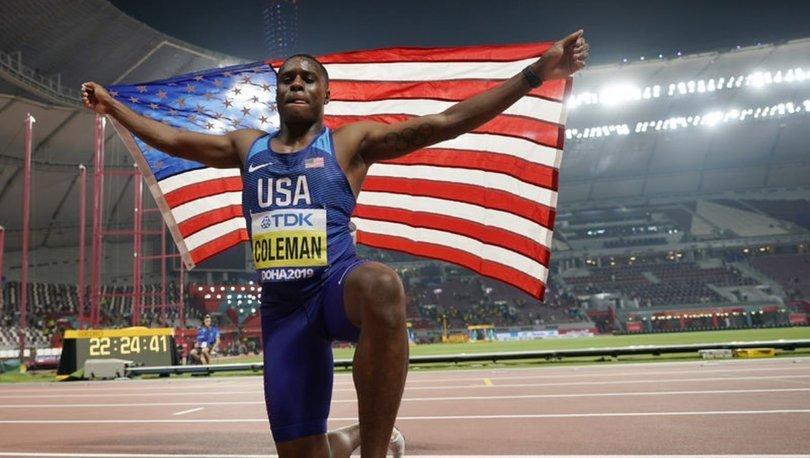 Dünya şampiyonu atlet Christian Coleman'ın doping ihlali cezası 18 aya düşürüldü