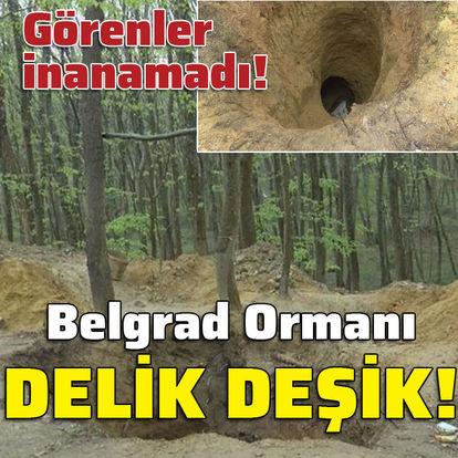 Belgrad Ormanı delik deşik!