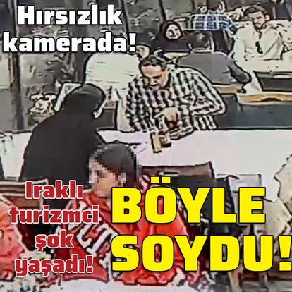 Hırsızlık kamerada! Iraklı turizmciyi böyle soydu!