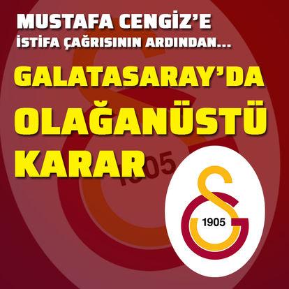 Galatasaray'da olağanüstü gün