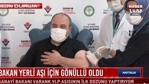 Bakan Mustafa Varank yerli aşı gönüllüsü oldu