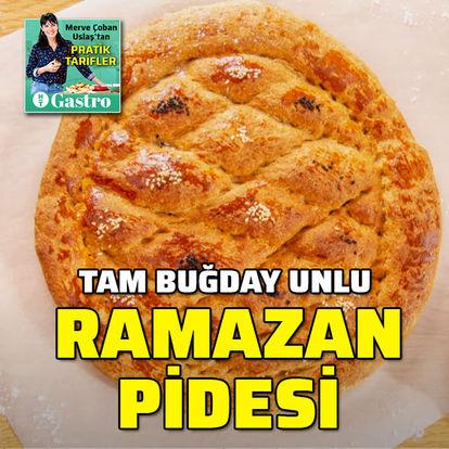 Tam buğday unlu Ramazan pidesi