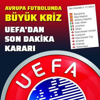 Avrupa futbolunda büyük kriz!