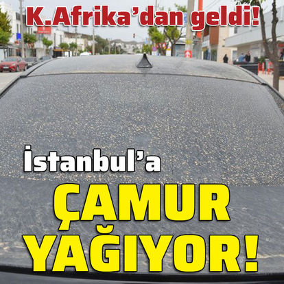 İstanbul'a gece çamur yağdı!