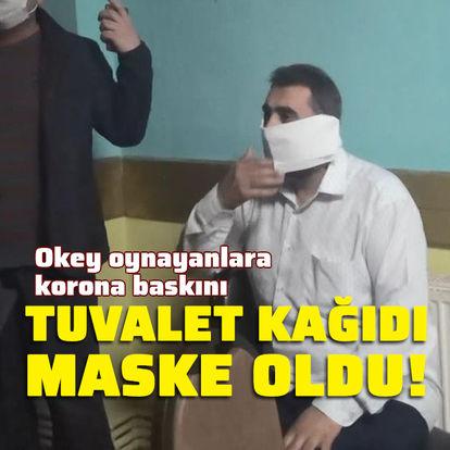 Tuvalet kağıdını maske yaptı