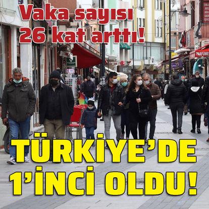 Vaka sayısı 26 kat arttı! Türkiye'de 1'inci oldu!