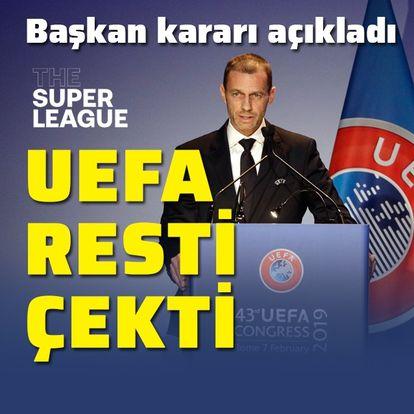 UEFA, Avrupa Süper Ligi'ne resti çekti!
