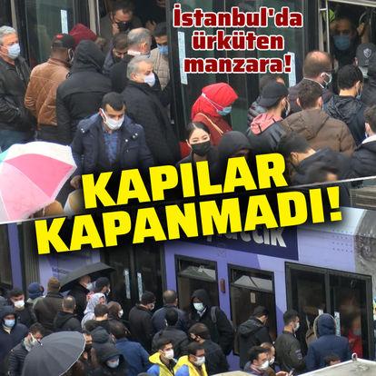 İstanbul'da ürküten manzara!