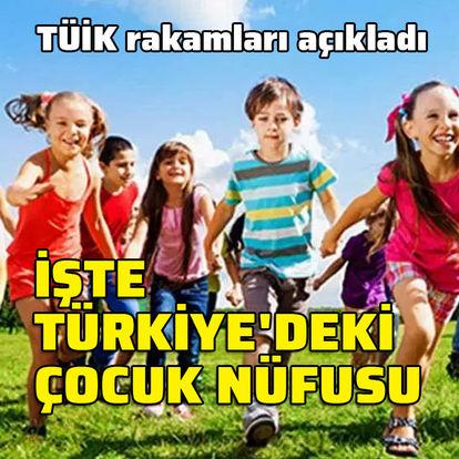 Türkiye nüfusunun yüzde 27.2'si çocuk