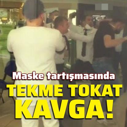 Maske tartışmasında tekme tokat kavga!