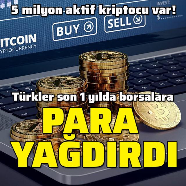 Türkler kripto borsalara para yağdırdı