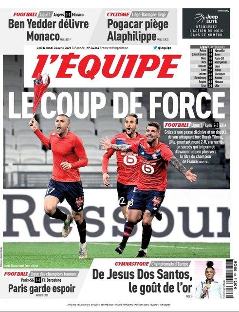 Burak Yılmaz, Fransa'da manşetlerde!