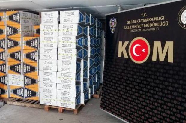 Kocaeli'de 2 milyon 90 bin makaron ele geçirildi