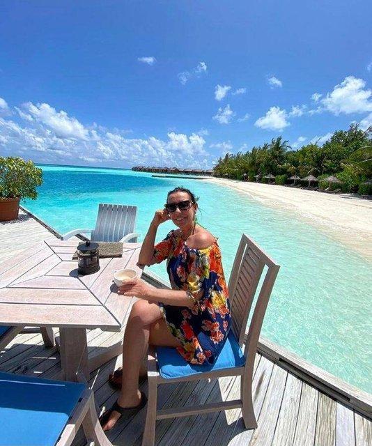 Perihan Savaş'tan Maldivler pozu - Magazin haberleri