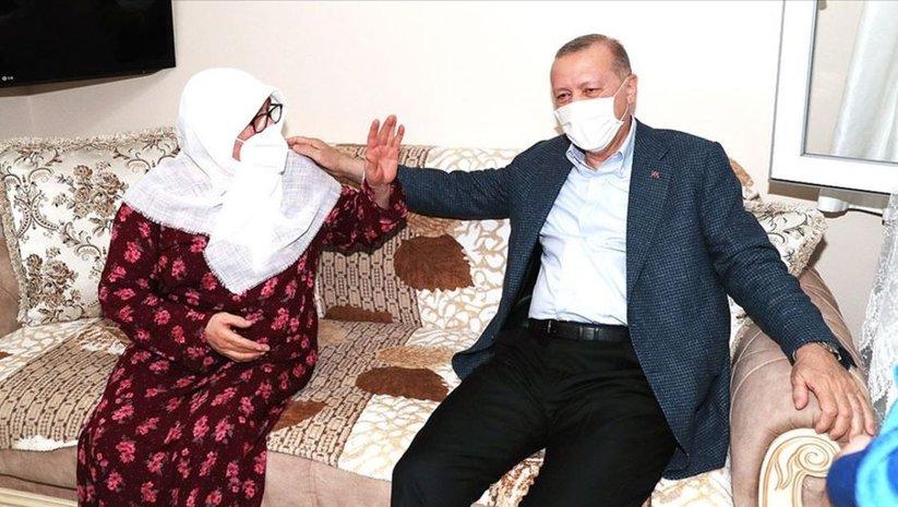 Cumhurbaşkanı Erdoğan söz verdiği aileyi ziyaret etti