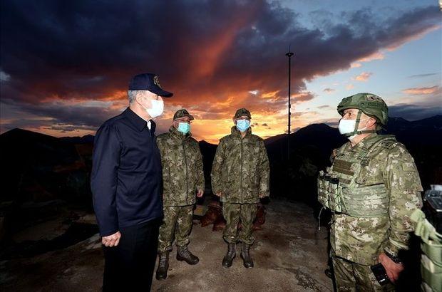 Bakan Akar ve komutanlar sınırda! 44 terörist öldürüldü