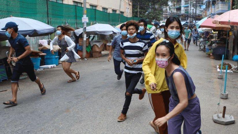 Myanmar'daki gösterilerde güvenlik güçleri ateş açtı