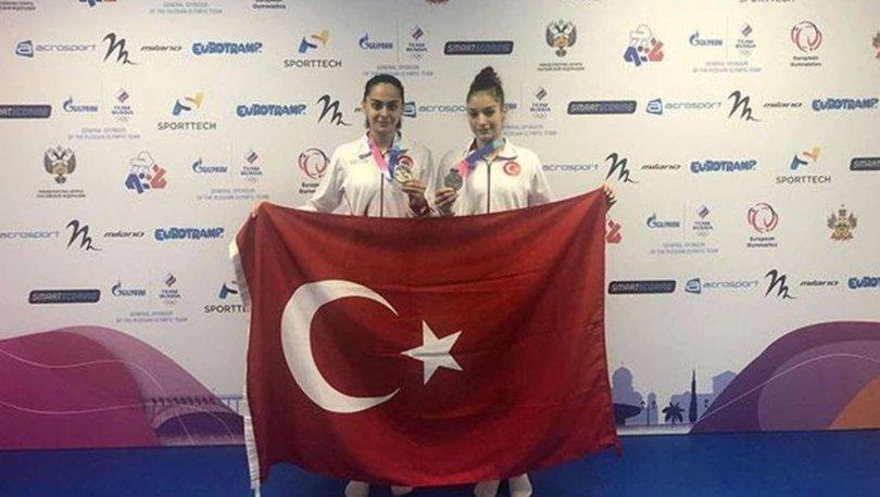 Avrupa Trampolin Cimnastik Şampiyonası'nda Elif Çolak ve Sıla Karakuş, gümüş madalya kazandı