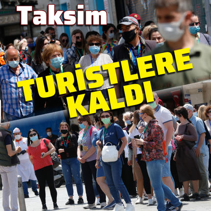 Taksim'de turist yoğunluğu
