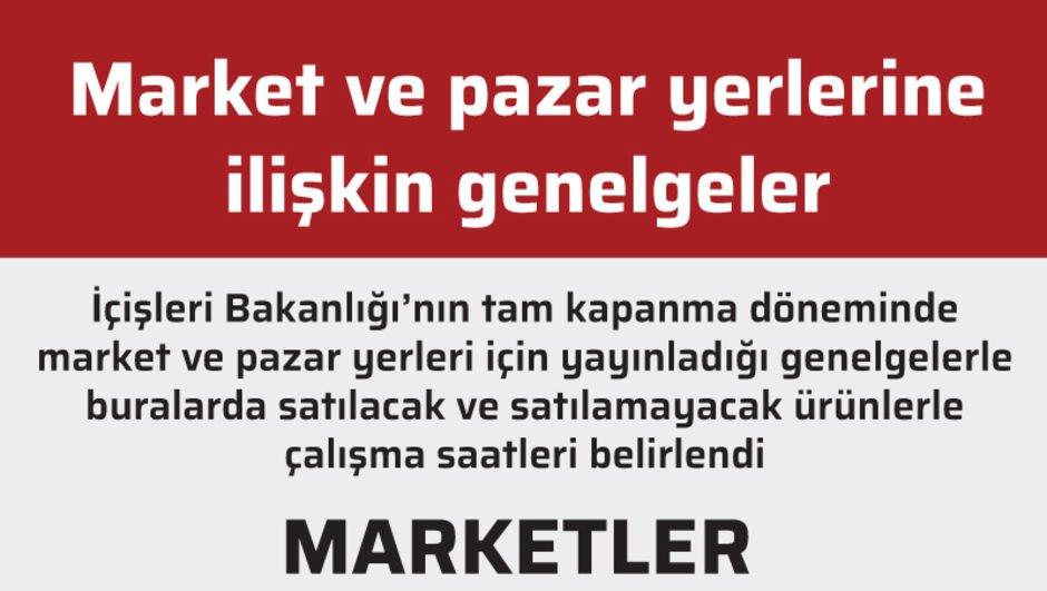 Market ve pazar yerlerine ilişkin genelgeler