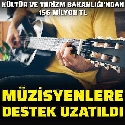 Müzisyenlere destek uzatıldı: 156 milyon TL'ye ulaşacak