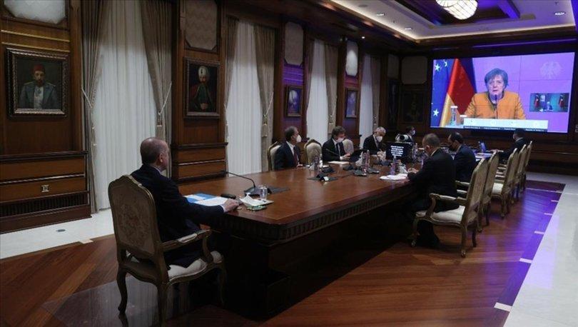 Cumhurbaşkanı Erdoğan, Merkel ile video konferans görüşme gerçekleştirdi