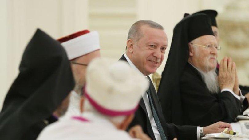 Cumhurbaşkanı Recep Tayyip Erdoğan, azınlık cemaat temsilcileriyle iftarda bir araya geldi