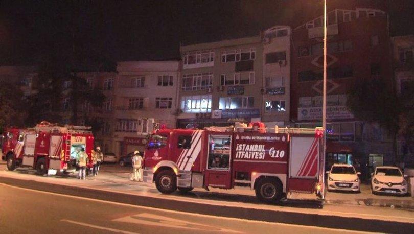 Üsküdar'da bir iş yerinde çıkan yangın söndürüldü