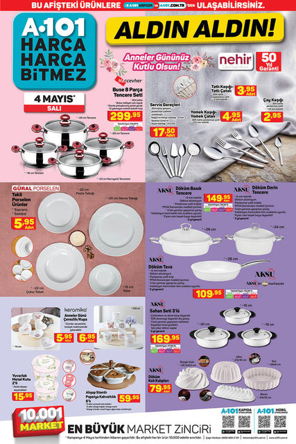 A101 BİM aktüel ürünler kataloğu! A101 BİM 4-11 Mayıs aktüel ürünleri! İşte tüm liste