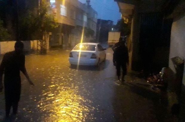 Adana'da bazı evleri su bastı