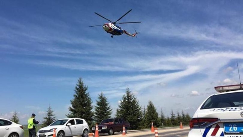 Eskişehir'de havadan trafik denetimi; 27 sürücüye 8 bin lira ceza