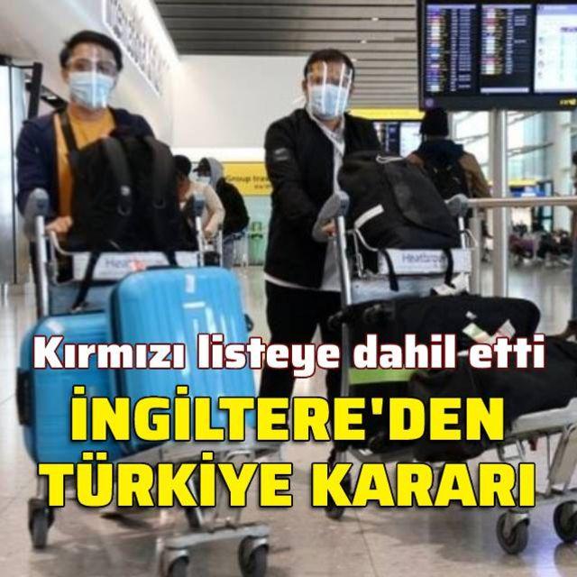 İngiltereden Türkiye kararı