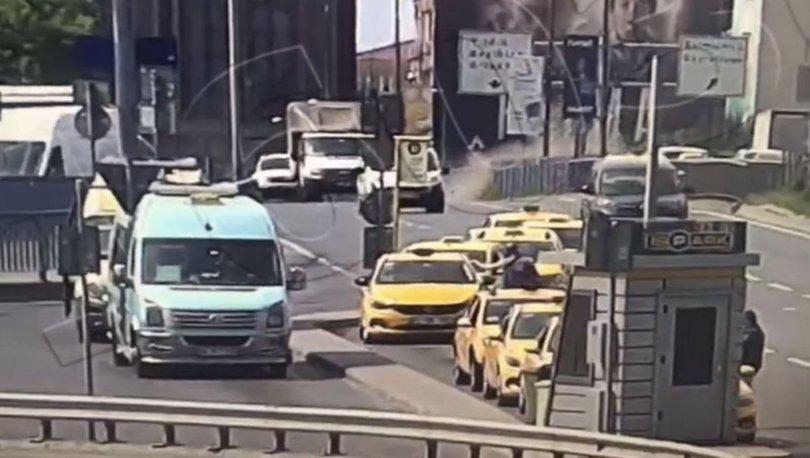 11 aracın karıştığı akıl almaz kaza kamerada! - Haberler