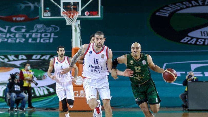 ING Basketbol Süper Ligi erteleme maçında yarın Anadolu Efes ile Darüşşafaka Tekfen karşılaşacak