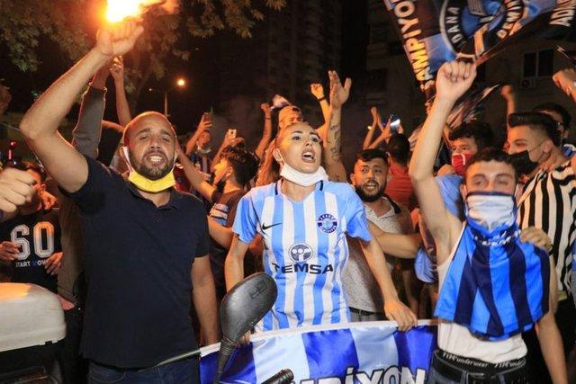 Adana Demirspor taraftarı, kısıtlamada sokaklara döküldü!