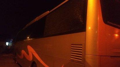 Adana'da Samsunspor otobüsüne saldırı