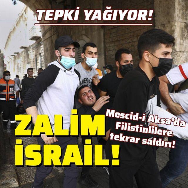 İsrail polisinin Filistinlilere saldırılarına tepki!