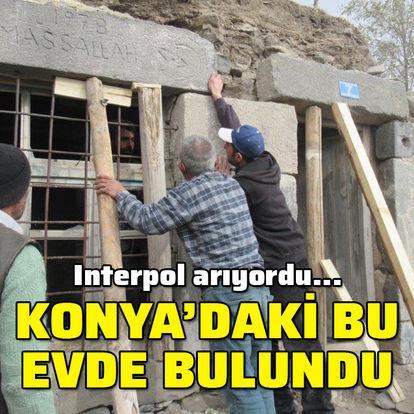 Interpol arıyordu... Konya'daki bu evde bulundu