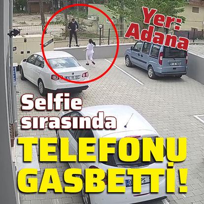 Selfie sırasında telefonu gasbetti!