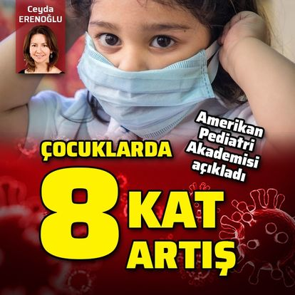 Amerikan Pediatri Akademisi açıkladı! Çocuklarda 8 kat artış!