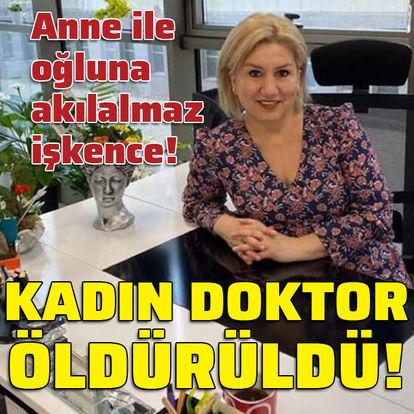 Kadın doktoru bıçakla öldürdü!