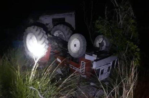 Devrilen traktörün altında kalan çocuk öldü, dedesi yaralandı