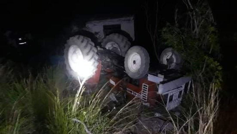 Adana'da traktör devrildi: 1 ölü, 1 yaralı