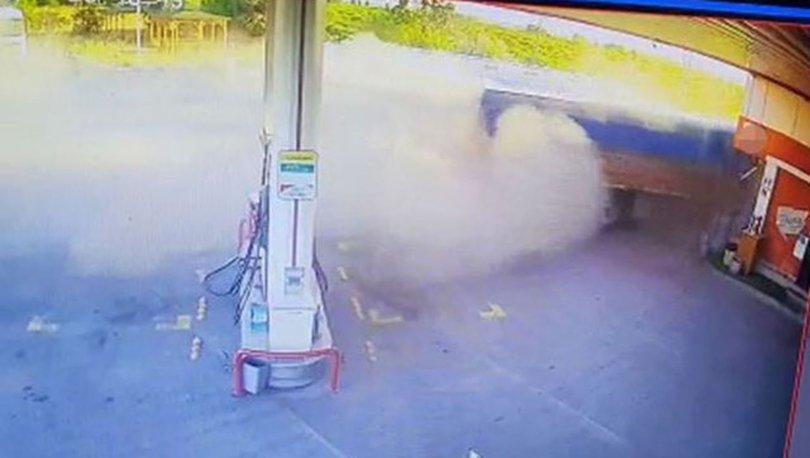 FACİADAN DÖNÜLDÜ! Son dakika: Tır benzinliğe girdi! - VİDEO HABER