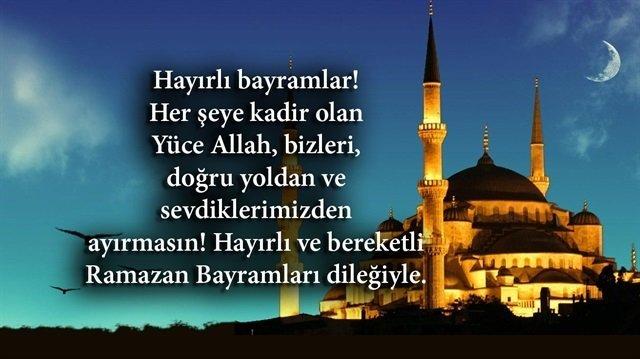 Ramazan Bayramı mesajları YENİ 2021 kısa ve öz! Ayetli, dualı Ramazan Bayramı mesajları...