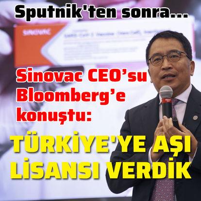 Sinovac: Türkiye'ye üretim için lisans verdik